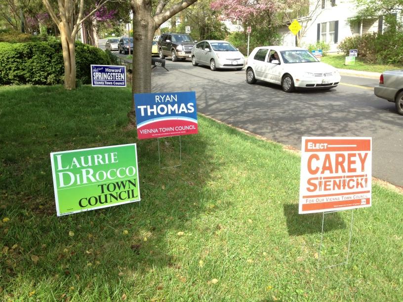 Vienna Virginia Council Election Signs