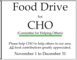 Vienna Holiday Food Drive CHO 2014