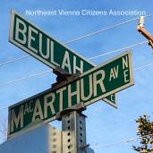 Street sign Beulah Road Vienna VA