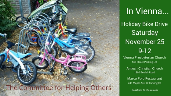 Vienna VA Bike Drive Committee for Helping Others